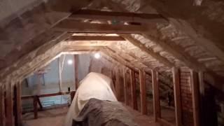 видео Утепление крыши пенополиуретаном