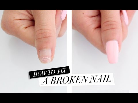 How to fix a broken nail with acrylic