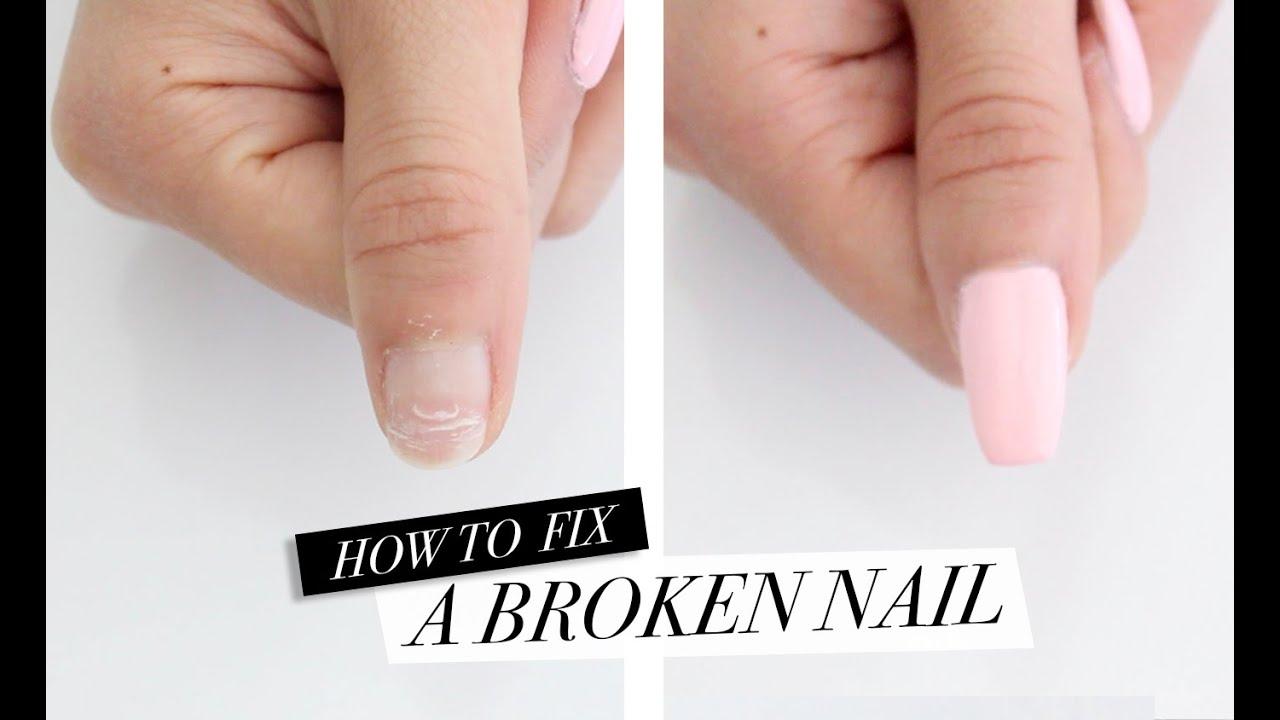 How To Fix A Broken Nail Diy Acrylic Nails At Home Youtube
