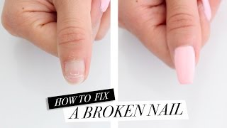 How Fix Broken Nail Diy Acrylic Nails Home