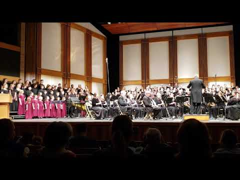 """""""America Singing"""" by Andre Thomas, performed at the 2018 Veteran's Day Concert."""