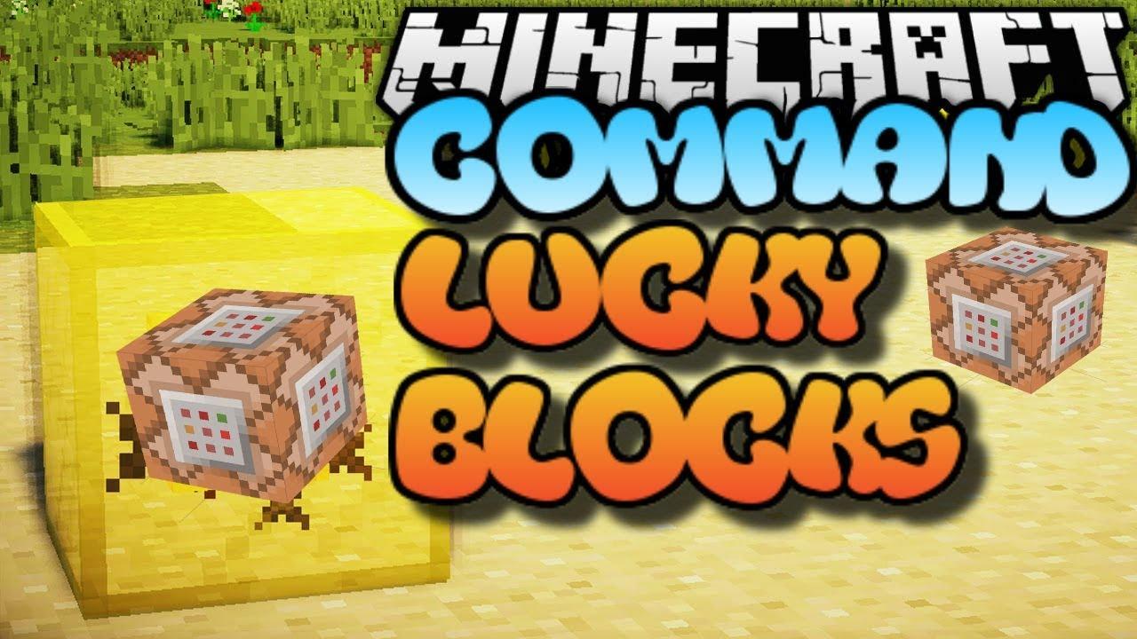 Lucky Block Command Bedrock Edition Minecraft Map