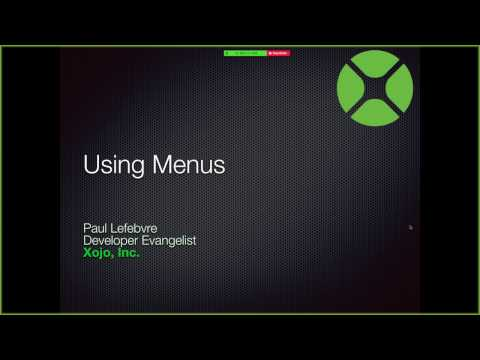 Using Menus in Desktop and Web Apps