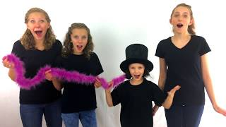 Learn English Colors! Rainbow Magic Trick on Jojo with Sign Post Kids!