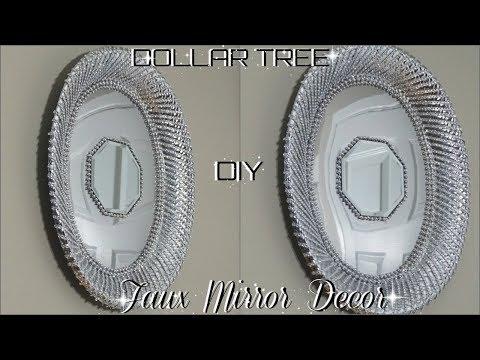 DOLLAR TREE DIY  GLAM OVAL FAUX MIRROR DECOR  PETALISBLESS