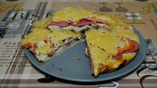 Быстрая пицца на сковороде за 5 минут. Очень вкусная!