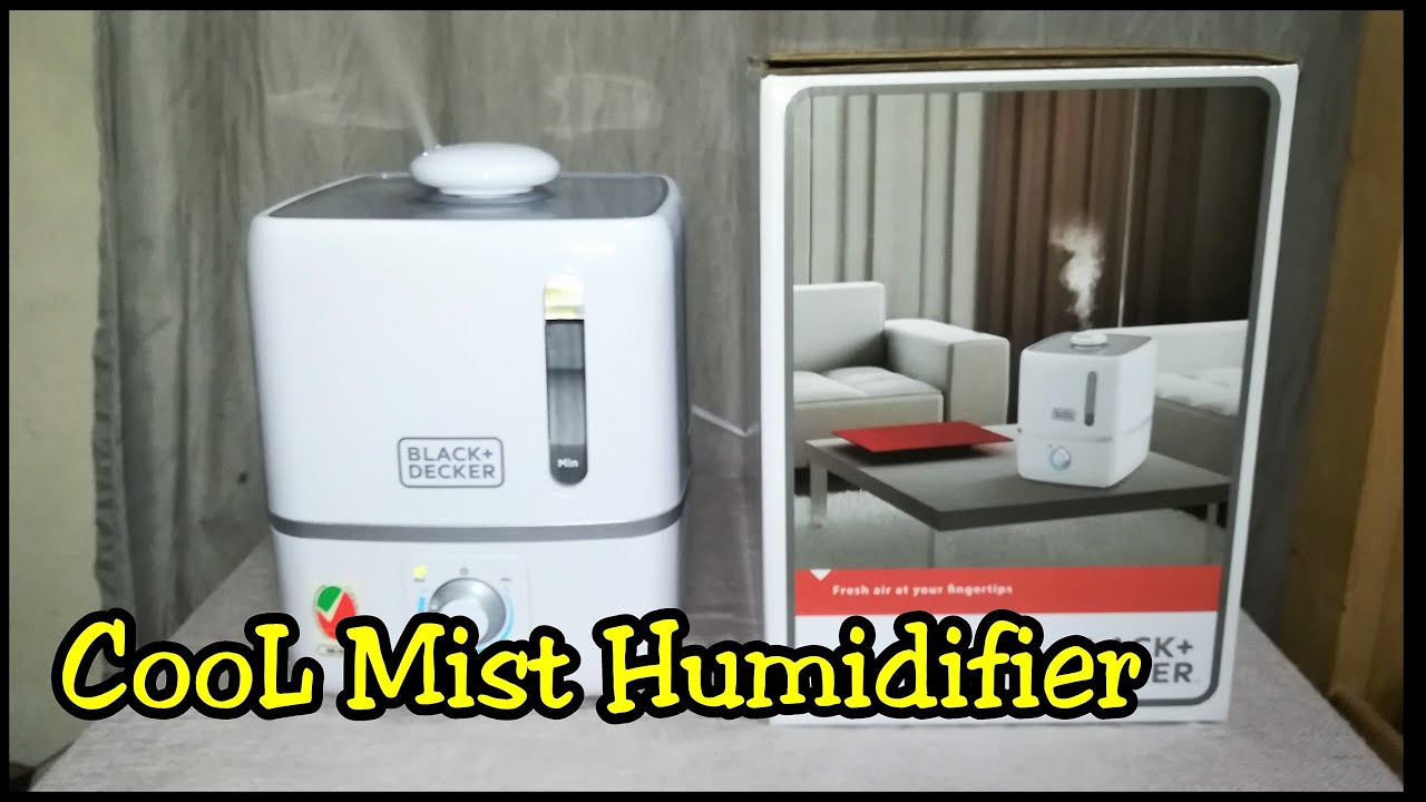 Black and Decker HM3000 Cool Mist Aroma Humidifier Unboxing