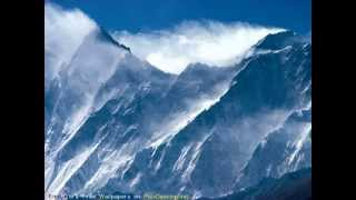 The highest mountain in the world ,Mount Everest