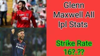Glenn Maxwell All Ipl Stats || Batting Bowling Full Stats || Glenn maxwell ipl career || Kxip