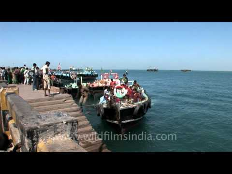 Ferry port in Beyt Dwarka, Gujarat
