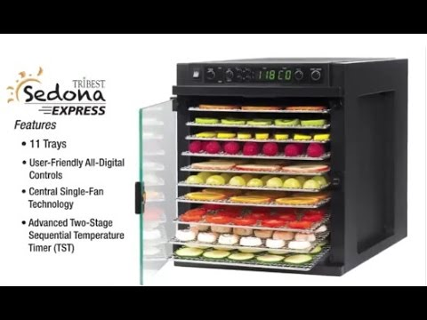 sedona express sde s6780 b digital food dehydrator with stainless steel trays