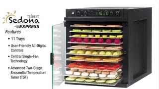 tribest sedona express sde s6780 b digital food dehydrator with stainless steel trays black review