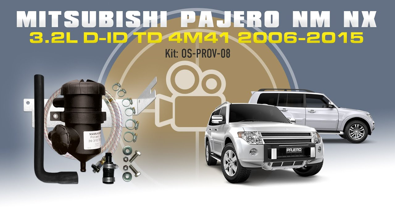 os prov 08 mitsubishi pajero nm nx 4m41 3 2l did 2006 2015 provent oil catch can vehicle specific kit online store www westernfilters net au  [ 1280 x 720 Pixel ]