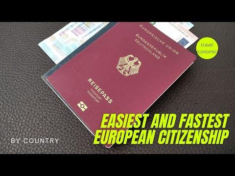 Easiest European Citizenship (Fastest EU Nationality and Req