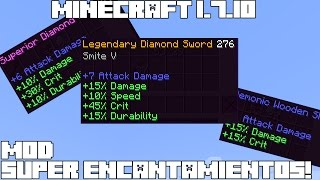 Minecraft 1.7.10 MOD SUPER ENCANTAMIENTOS! Buffed Tools Mod Review Español!