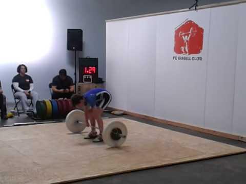 Kyle Holman, C&J attempts 32, 33, 34kgs
