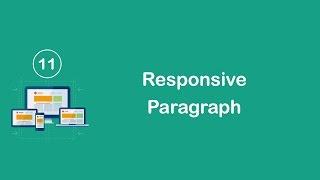 Responsive Design in Arabic #11 - Create Responsive Paragraph