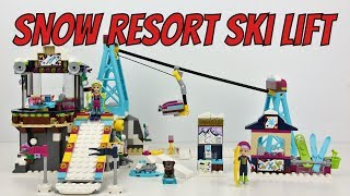 LEGO Friends Snow Resort Ski Lift - Unboxing, Speed Build & Review (41324)