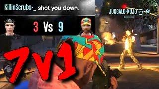 LEVEL 8 DESTROYS HATER'S CREW IN A 7v1 (GTA 5 ONLINE)
