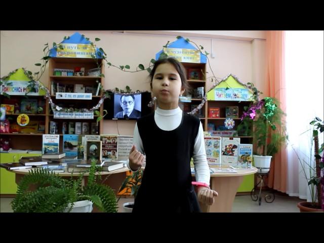 Изображение предпросмотра прочтения – ПолинаПашкова читает произведение «Зимний вечер» А.С.Пушкина