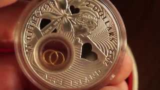 Серебрянная Свадебная монета