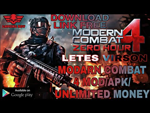 DOWNLOAD MODERN COMBAT 4 ZERO HOUR MOD APK [OFFLINE, UNLIMITED MONEY] ✓