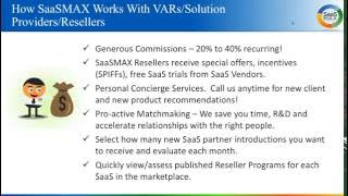 Introduction to SaaSMAX for Solution Providers 6-30-2016