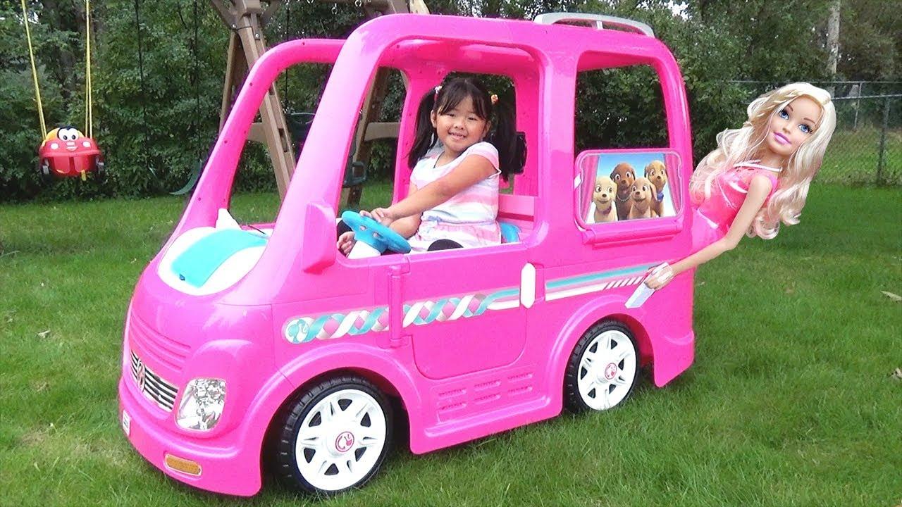 Download Kid Buys a Giant Barbie Dream Camper Van Vehicle Ride-On Power Wheel