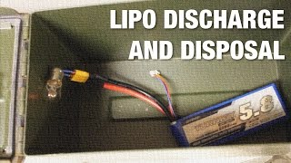 How to Discharge aฑd Dispose of LiPo Batteries