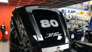 Тестовая емкость для испытания подвесных моторов. Водометный мотор Mercury ME Jet 80 ELPT EFI .