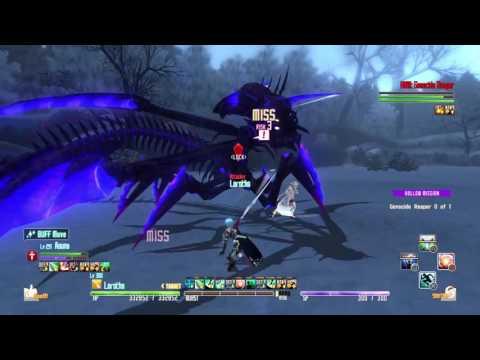 SWORD ART ONLINE Re: Hollow Fragment scythe reaper advanced on deathgame