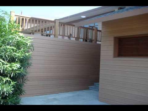 house decoration outside wall panel tiles - YouTube