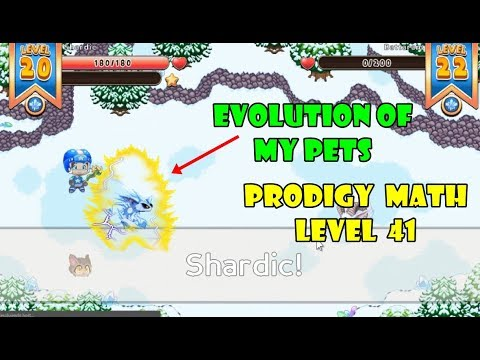 Prodigy Math Game: (EVOLUTION OF MY PETS)   Level 41   Part 24 - Games For Childrens
