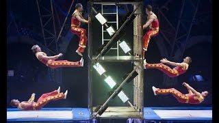 Trampoline Wall Circus Act Ringling Bros Circus Xtreme show