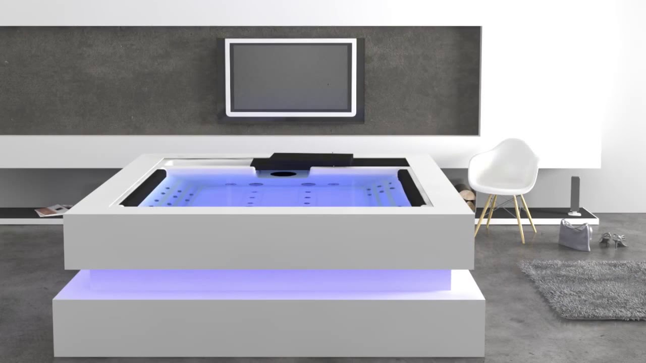 whirlpool cube f r 4 personen aquavia spa exclusive youtube. Black Bedroom Furniture Sets. Home Design Ideas