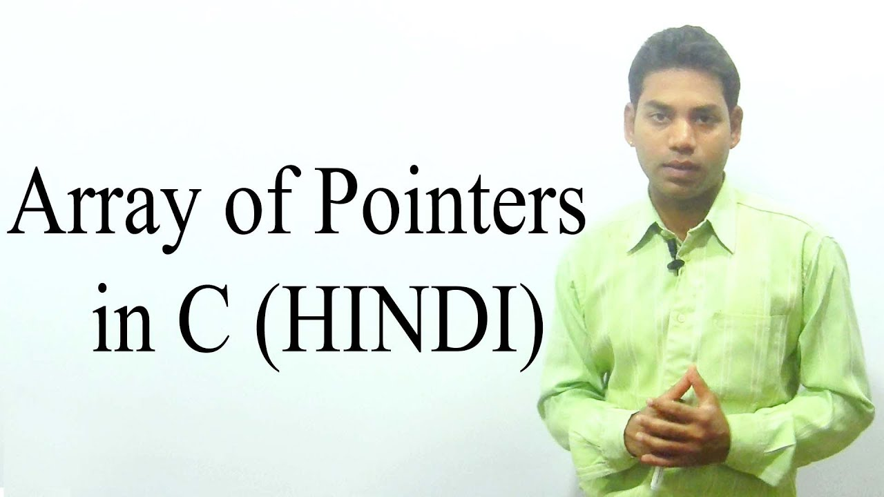 Array of Pointers - YouTube