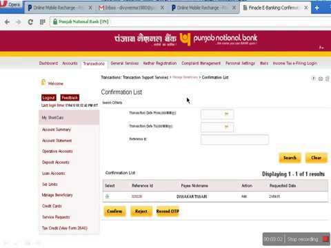 how to transfer money from punjab national bank net banking