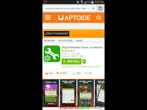 How to install sb game hacker with aptoide👍
