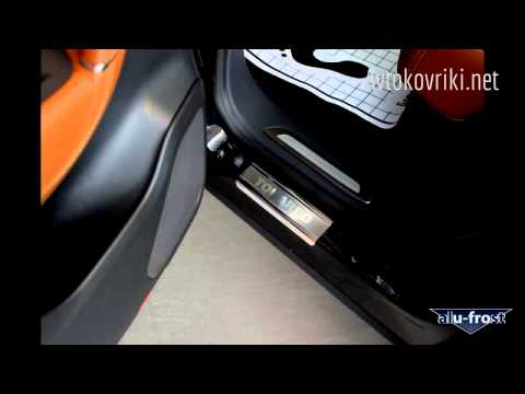 Накладки на пороги Volkswagen Touareg 2010 Alufrost