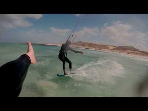 Even een weekje t warmere water op - Kitesurfing Boa Vista Cabo Verde - Punta Antonia
