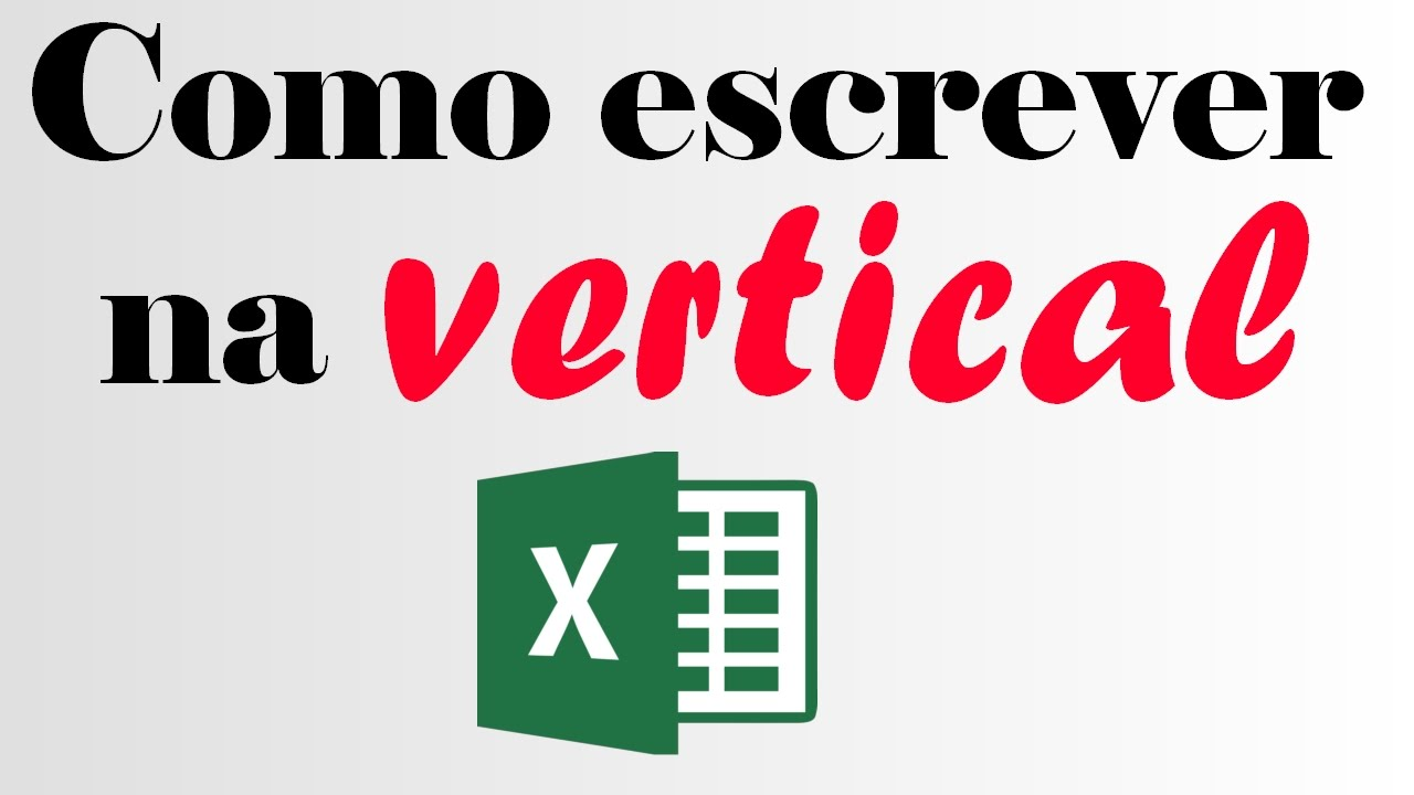 how to make excel font vertical