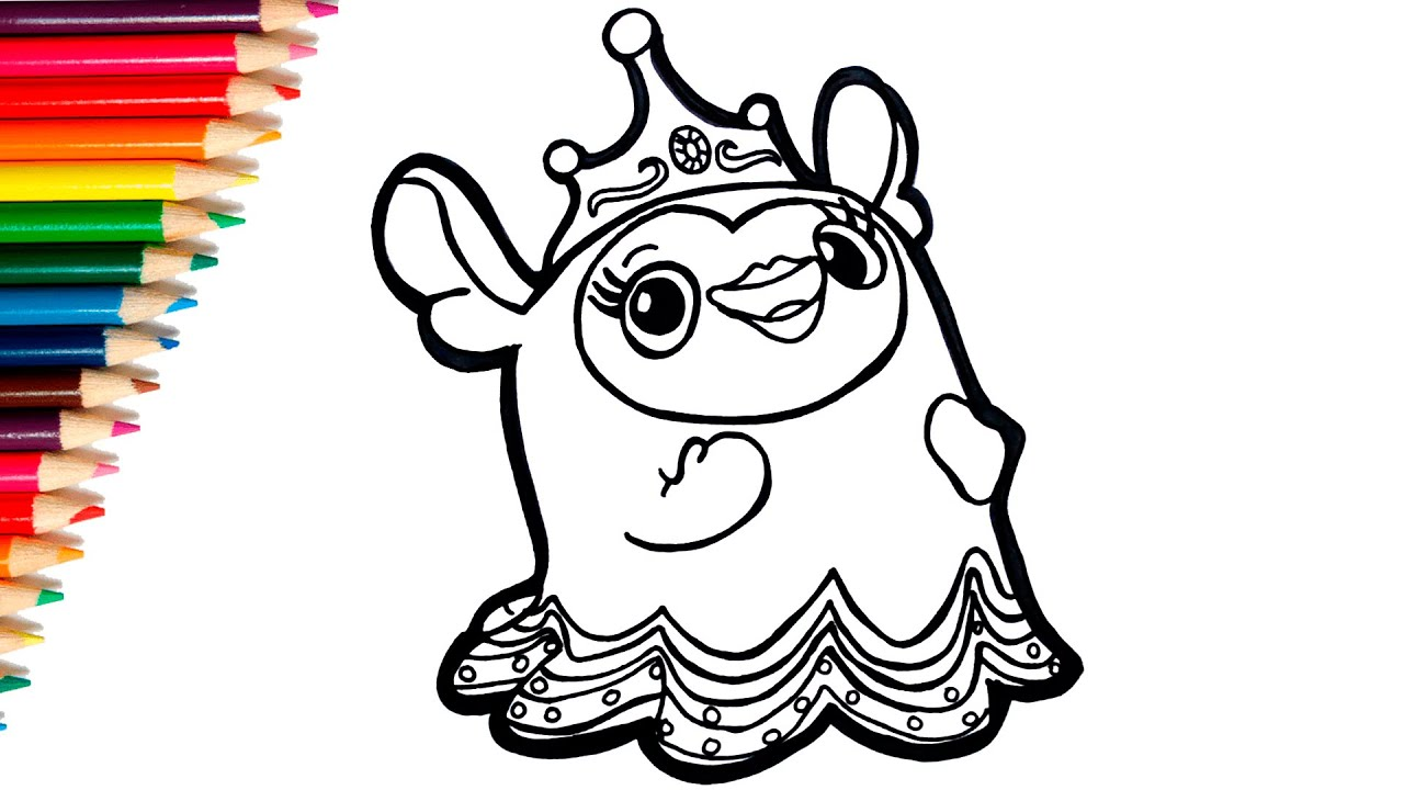 How to draw and Coloring Princess Flug from Abby Hatcher ...