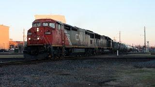 (HD) Afternoon Railfanning Hattiesburg, MS 1-25-2015