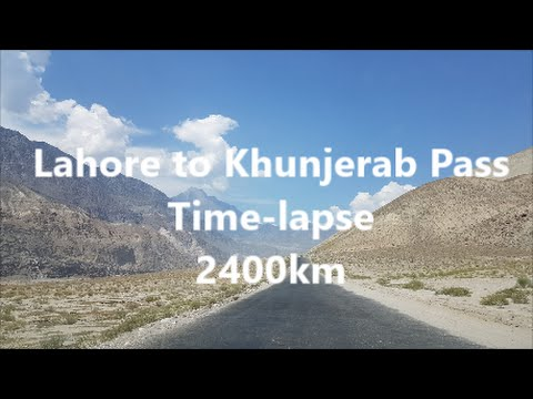 Lahore to Khunjerab Pass Timelapse | 2400 km | KKH | 7 daytrip in 5min | Pakistan | HD |