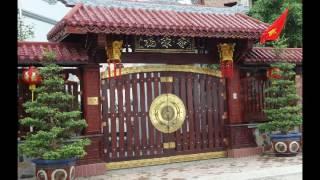 cổng gỗ 4 cánh, cổng gỗ 2 cánh, mẫu cổng gỗ đẹp, mẫu cổng gỗ lim