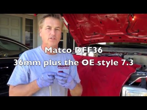 Ford 64 60 Powerstroke fuel filter tips and tricks - YouTube