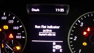 Reset Run Flat Indicator - A,B,CLA & GLA