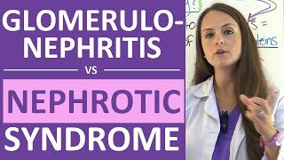 nephrotic syndrome vs glomerulonephritis nephritic vs nephrotic syndrome nursing nclex
