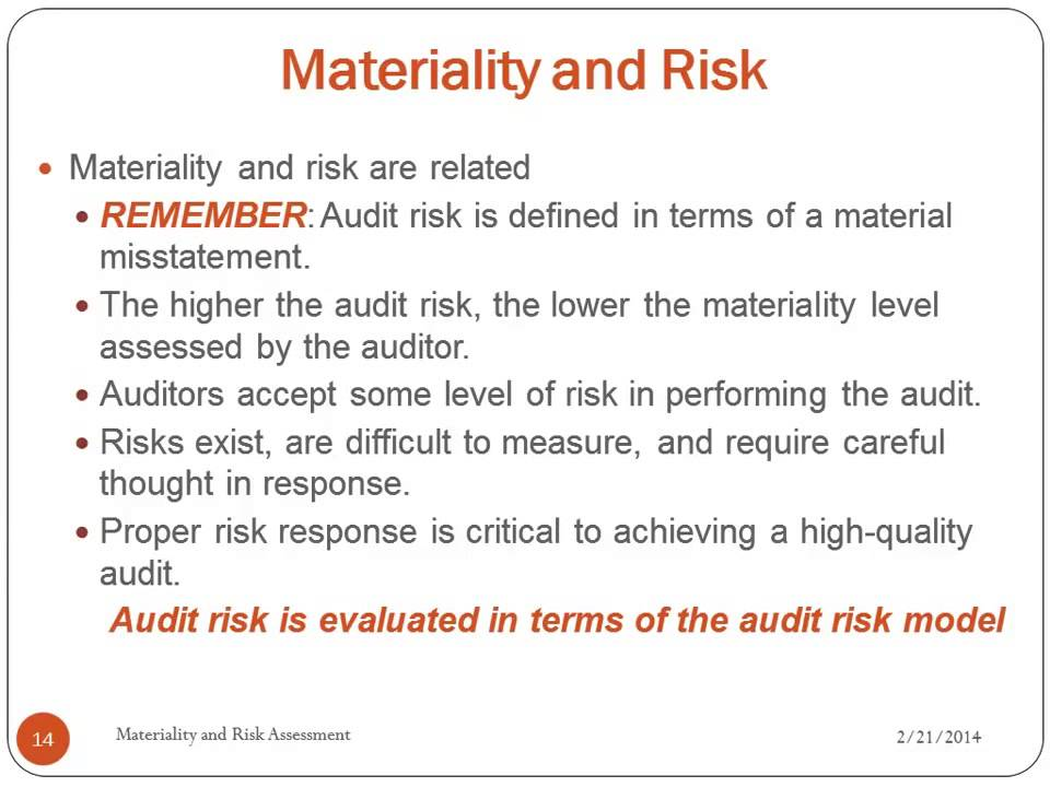how to decide materiality level