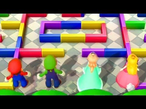 Mario Party 10 - Minigames - Mario Vs Rosalina Vs Peach Vs Daisy